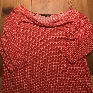 French Connection Knit Top L Strawberry Red